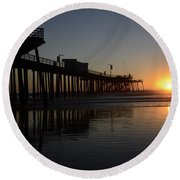 Pismo Beach Pier California 4 Round Beach Towel