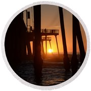 Pismo Beach Pier California 5 Round Beach Towel