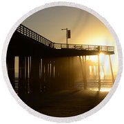 Pismo Beach Pier California 8 Round Beach Towel