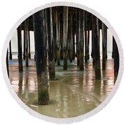 Pismo Beach Pier Round Beach Towel