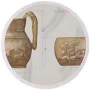 Pitcher Round Beach Towel