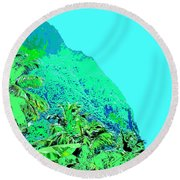 Pitons Round Beach Towel