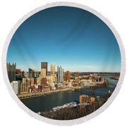 Pittsburgh Round Beach Towel