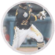 Pittsburgh Pirates Andrew Mccutchen 3 Round Beach Towel