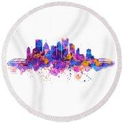 Pittsburgh Skyline Round Beach Towel