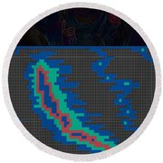 Pixel Painting Round Beach Towel