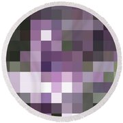 Pixelated Round Beach Towel