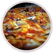 Pizza Pie For The Eye Round Beach Towel