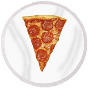 Pizza Slice Round Beach Towel