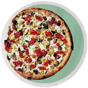 Pizza - The Guido Special Round Beach Towel