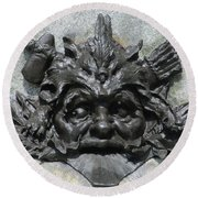 Place D'armes Sculpture 7 Round Beach Towel