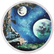 Place For Dreaming Round Beach Towel