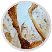 Places Of Worship Round Beach Towel