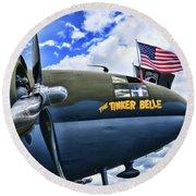 Plane - Curtiss C-46 Commando Round Beach Towel