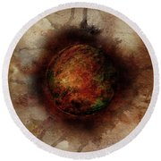Planetary Breakthrough Round Beach Towel
