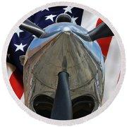 Planes Of Fame P-40c Warhawk Round Beach Towel