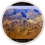 Planet Art Death Valley Mountain Aerial Round Beach Towel