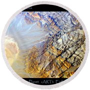 Planet Earth Eight Round Beach Towel