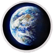 Planet Earth. Space Art Round Beach Towel
