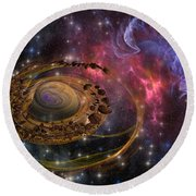 Planet Formation Round Beach Towel