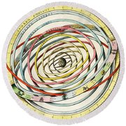 Planetary Orbits, Harmonia Round Beach Towel by Science Source