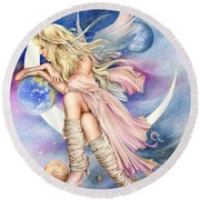Planets Of The Universe Round Beach Towel