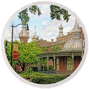 Plant Hall University Of Tampa Round Beach Towel