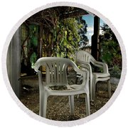 Plastic Chairs Round Beach Towel