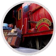 Platform Nine And Three Quarters Round Beach Towel