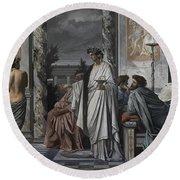 Plato's Symposium Round Beach Towel