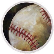 Play Ball Round Beach Towel by Kristine Kainer