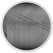 Play Misty For Me Round Beach Towel by Edward Kreis