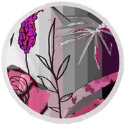 Play On Pink Round Beach Towel