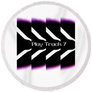 Play Track 7 Round Beach Towel