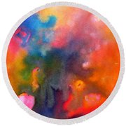 Play With Colours Round Beach Towel