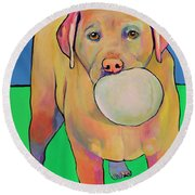 Play With Me Round Beach Towel