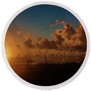 Playalinda Sunrise Round Beach Towel