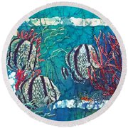Playful Trio Round Beach Towel