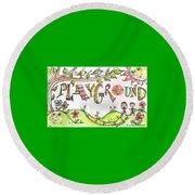 Playground Round Beach Towel