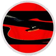 The Sigma In Red Round Beach Towel