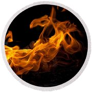 Playing With Fire Round Beach Towel