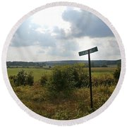 Pleasant Valley Round Beach Towel