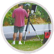 Plein Air L'automne Round Beach Towel