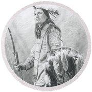 Taopi Ota - Lakota Sioux Round Beach Towel by Brandy Woods