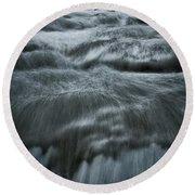 Plitvice Cascades #2 Round Beach Towel