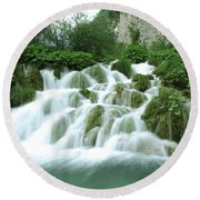 Plitvice Lakes Round Beach Towel