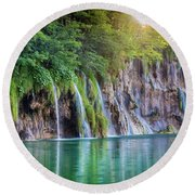 Plitvice Sunburst Round Beach Towel