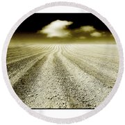 Ploughed 1 Round Beach Towel