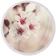 Plum Blossoms Round Beach Towel by Lisa Russo