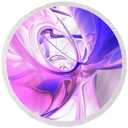 Plum Juices Abstract Round Beach Towel
